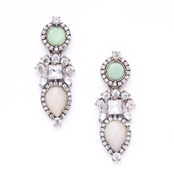 This is a photo of Alexandra Crystal Drop Earrings.