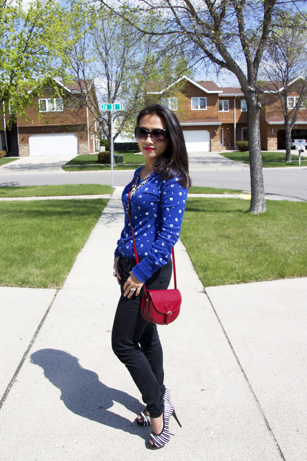 This picture is a fun spring look styled with anchor helm prints top