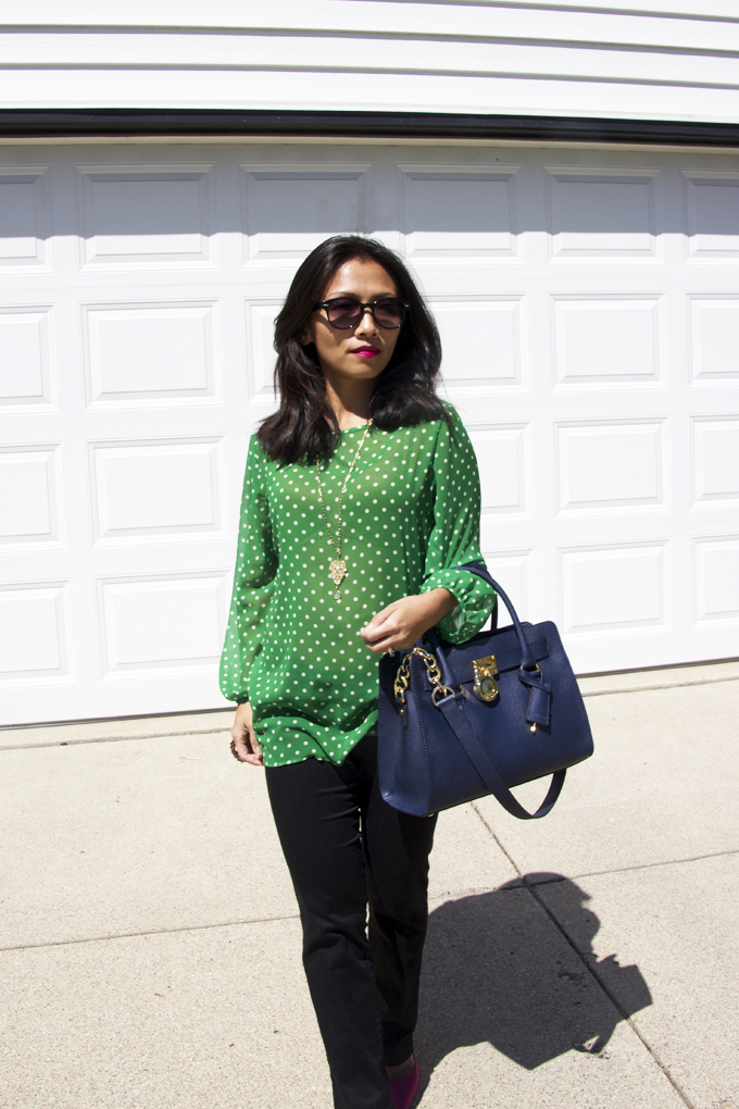 green-polka-dots-top-look3