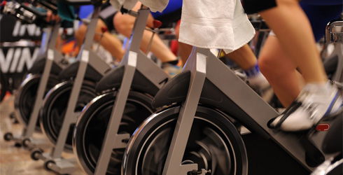 This is a picture of a spinning class