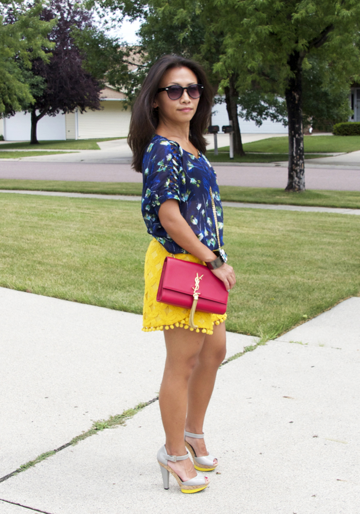 blue-top-yellow-lace-shorts-look3
